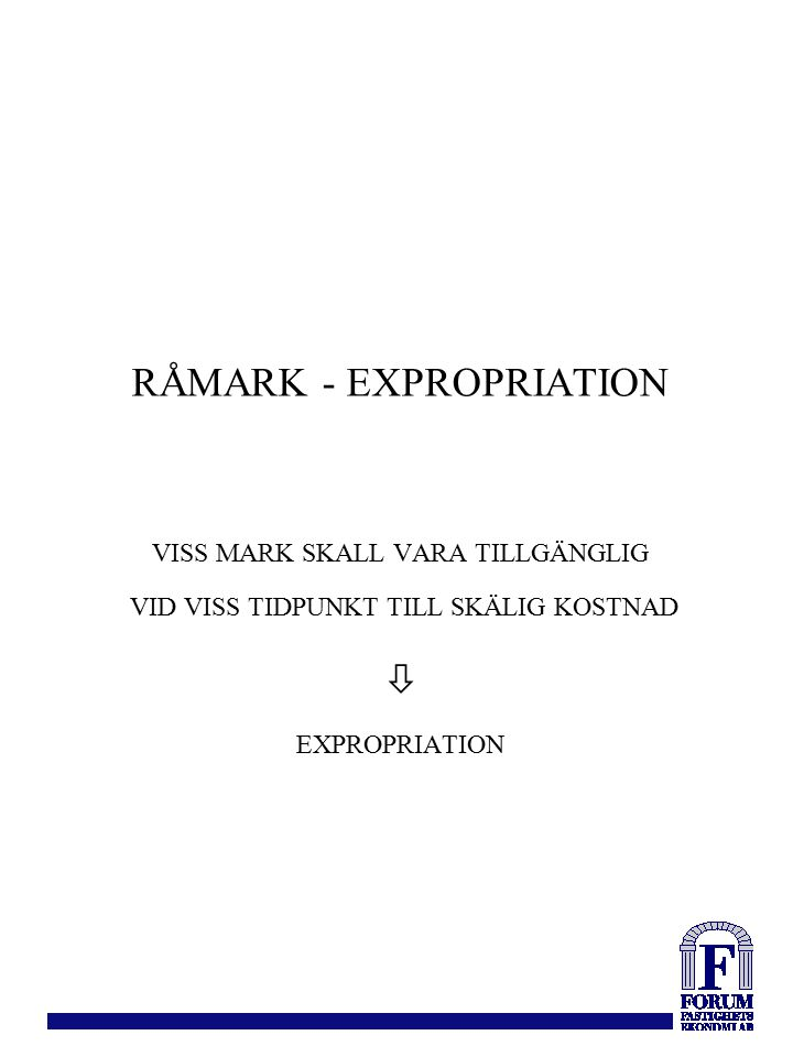 RÅMARK - EXPROPRIATION