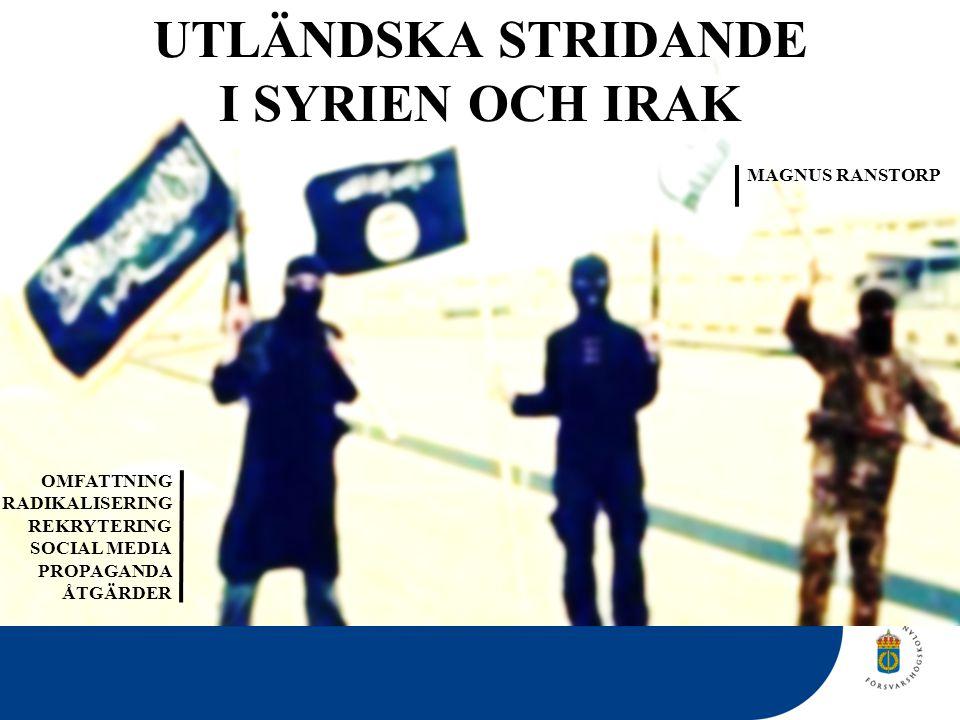 UTLÄNDSKA STRIDANDE I SYRIEN OCH IRAK