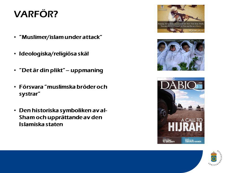 VARFÖR Muslimer/islam under attack Ideologiska/religiösa skäl