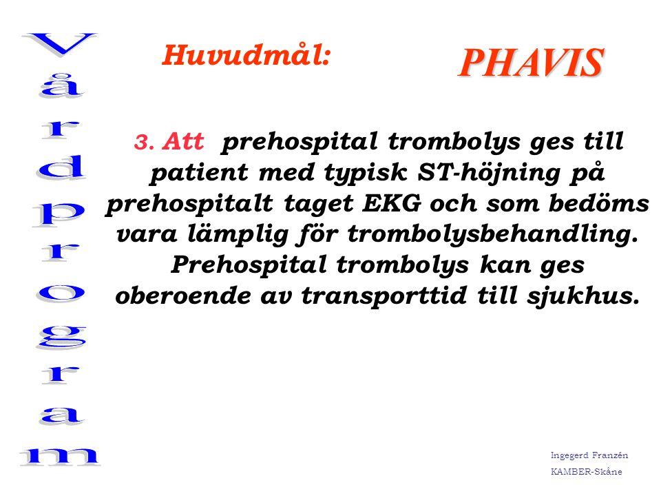 Vårdprogram PHAVIS Huvudmål: