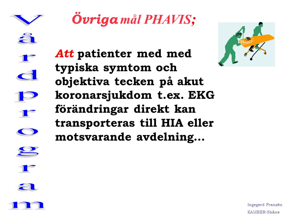 Vårdprogram Övriga mål PHAVIS;