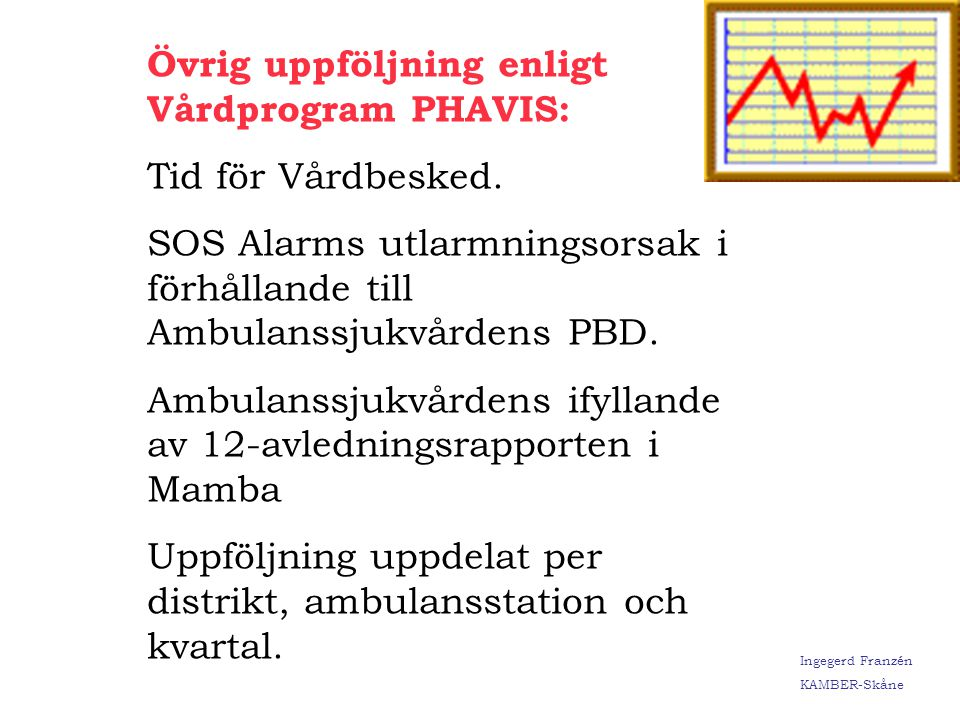 Övrig uppföljning enligt Vårdprogram PHAVIS: