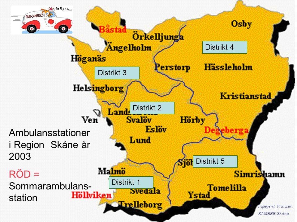 Ambulansstationer i Region Skåne år 2003