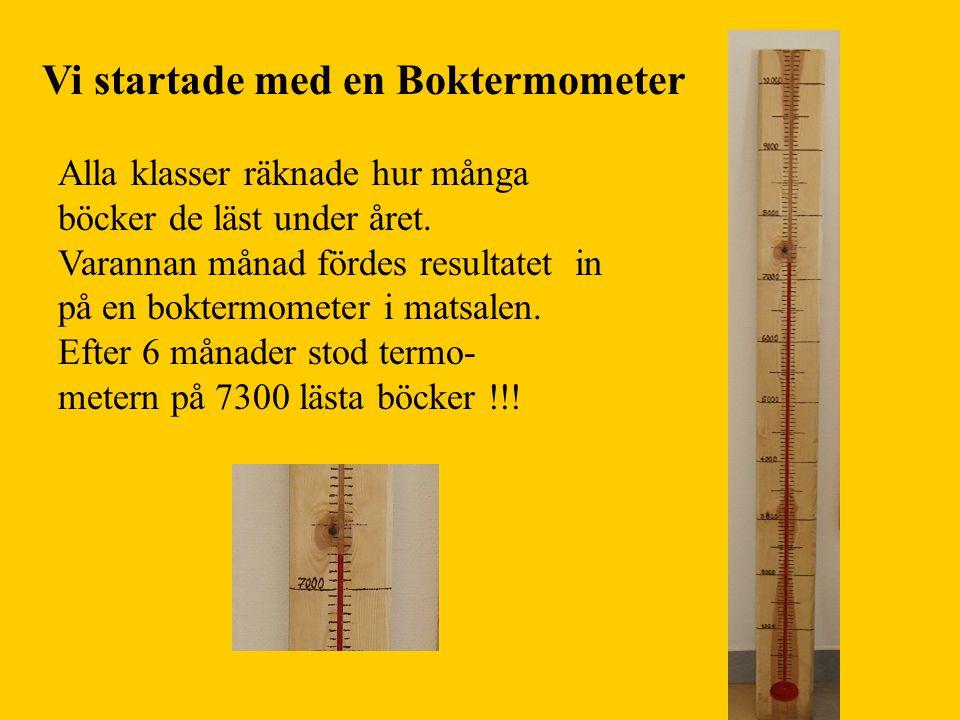 Vi startade med en Boktermometer