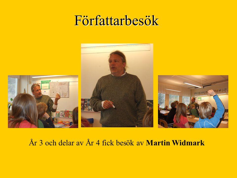 År 3 och delar av År 4 fick besök av Martin Widmark