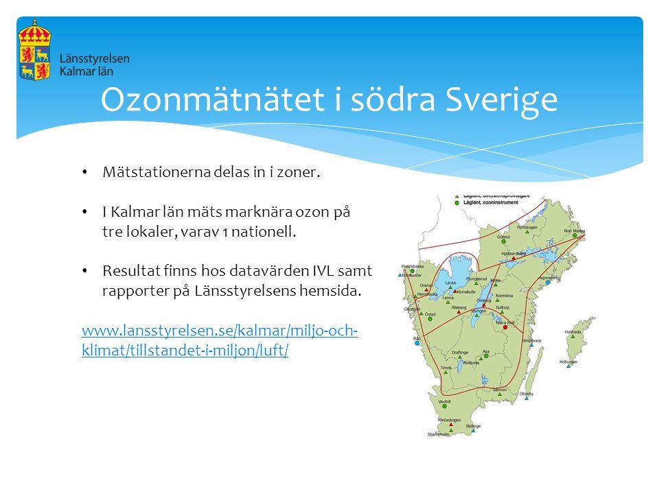 Ozonmätnätet i södra Sverige