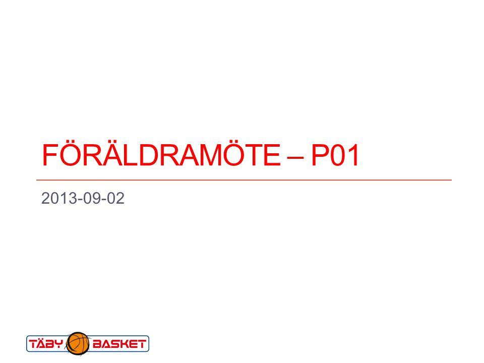 FÖRÄLDRAMÖTE – P01 2013-09-02. Till ledare och lagföräldrar inom Täby Basket. SYFTET MED MALLEN. med denna ppt-mall är främst att…