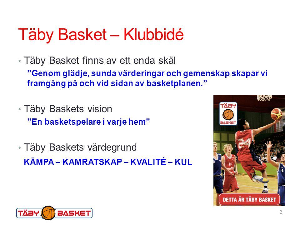 Täby Basket – Klubbidé Täby Basket finns av ett enda skäl