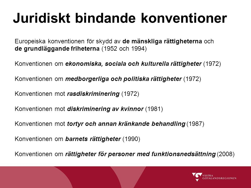 Juridiskt bindande konventioner