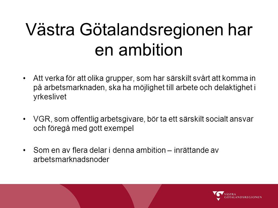 Västra Götalandsregionen har en ambition