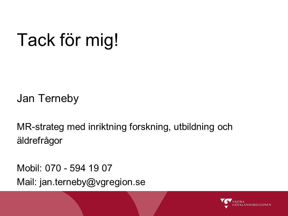 Tack för mig! Jan Terneby