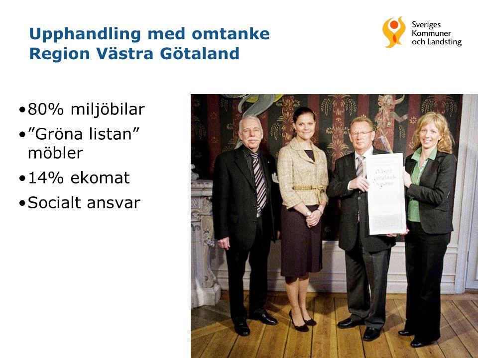 Upphandling med omtanke Region Västra Götaland