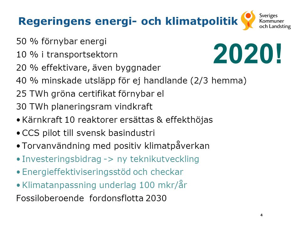 Regeringens energi- och klimatpolitik