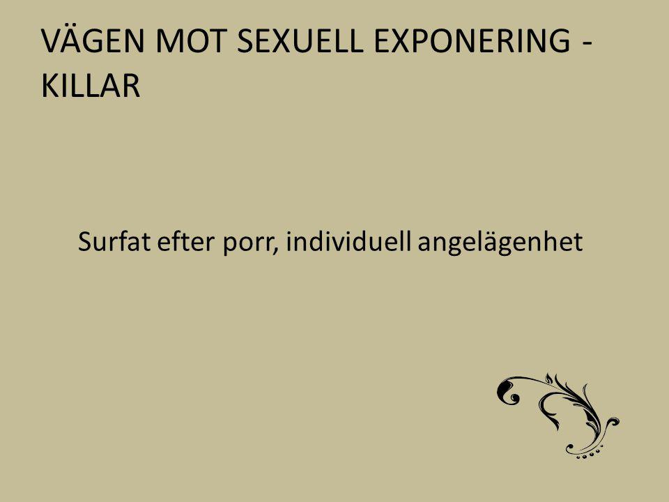 VÄGEN MOT SEXUELL EXPONERING - KILLAR