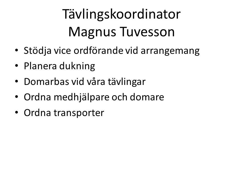 Tävlingskoordinator Magnus Tuvesson