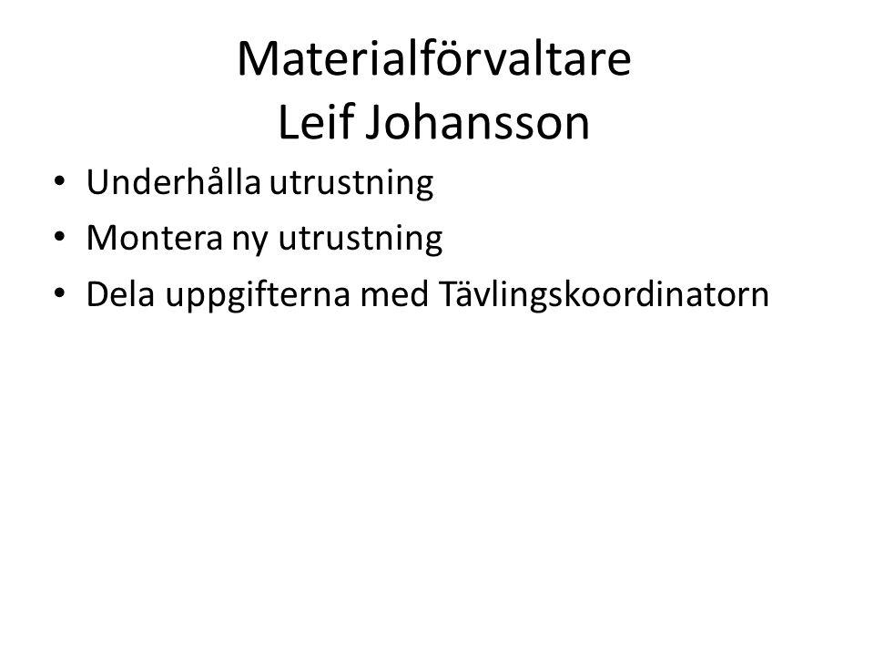 Materialförvaltare Leif Johansson