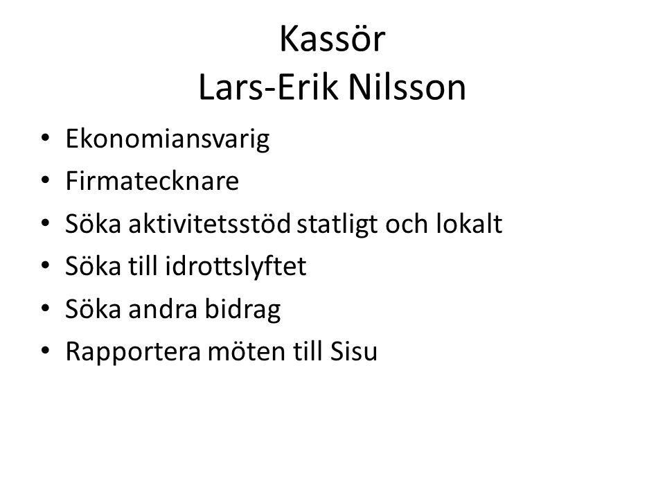 Kassör Lars-Erik Nilsson