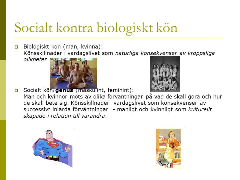 Socialt kontra biologiskt kön