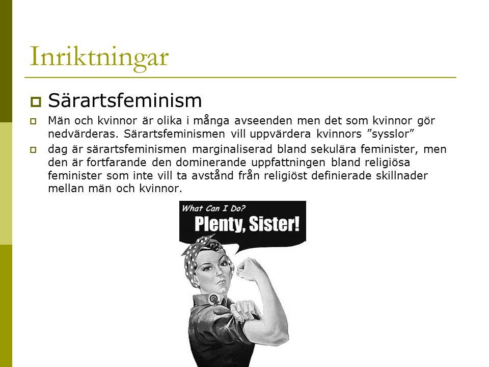 Inriktningar Särartsfeminism