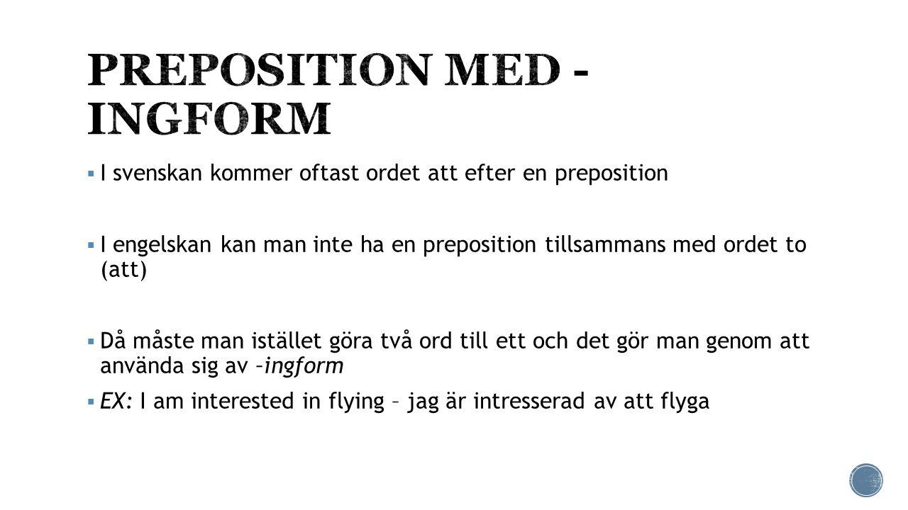 PREPOSITION MED -INGFORM