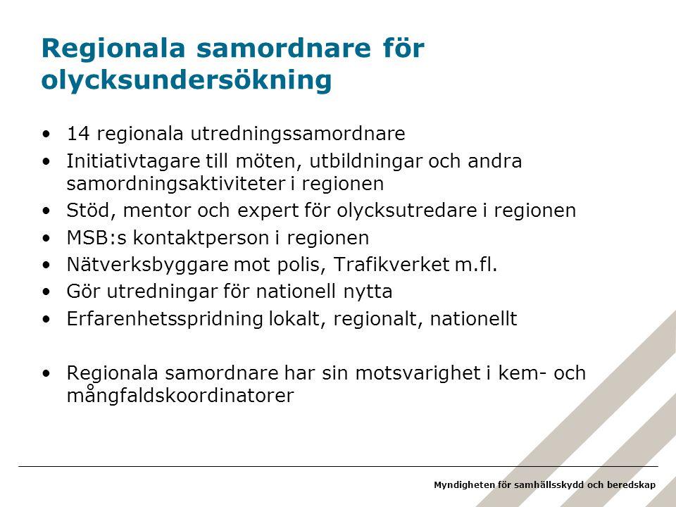Regionala samordnare för olycksundersökning