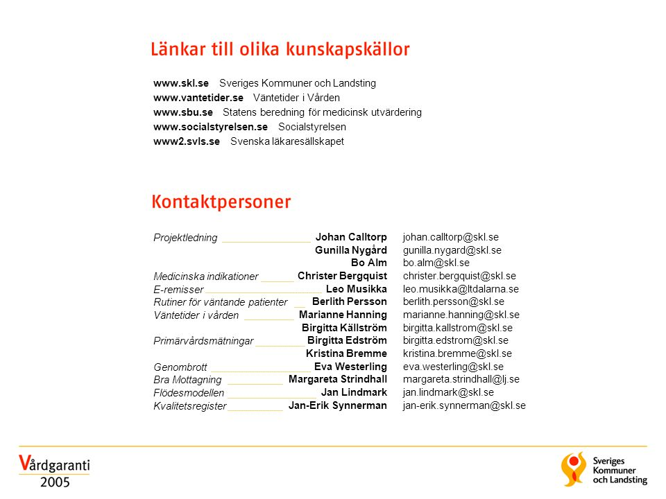 www.skl.se Sveriges Kommuner och Landsting