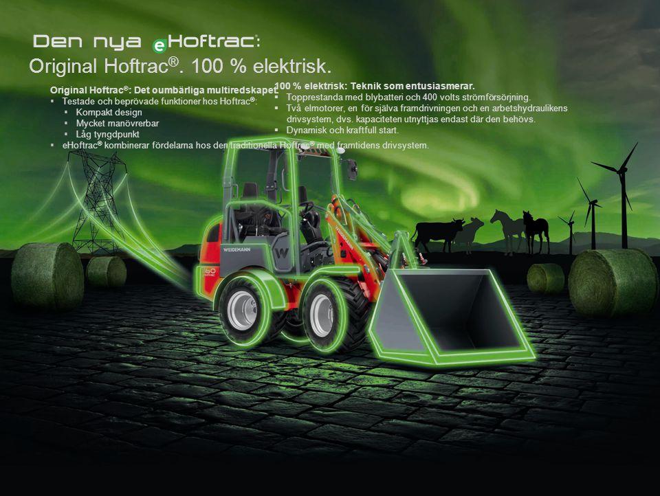 Original Hoftrac®. 100 % elektrisk.