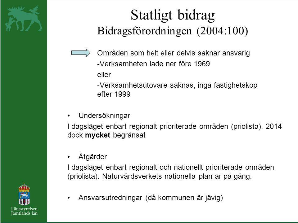 Statligt bidrag Bidragsförordningen (2004:100)