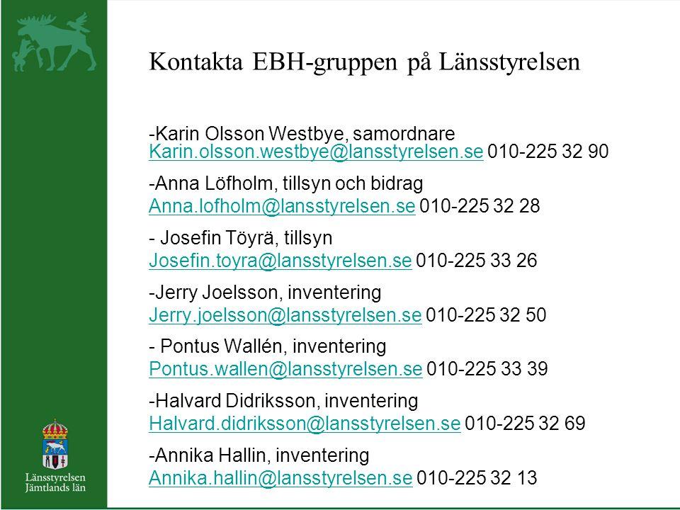 Kontakta EBH-gruppen på Länsstyrelsen