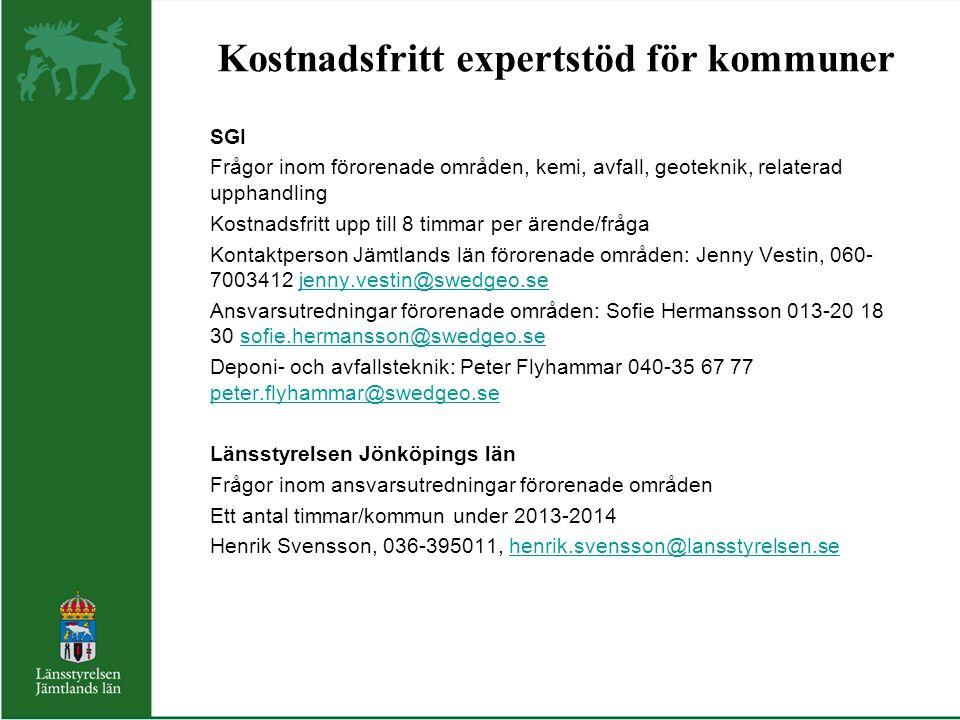 Kostnadsfritt expertstöd för kommuner