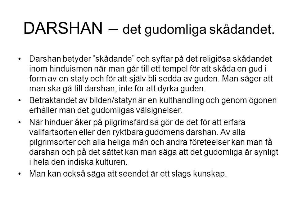 DARSHAN – det gudomliga skådandet.