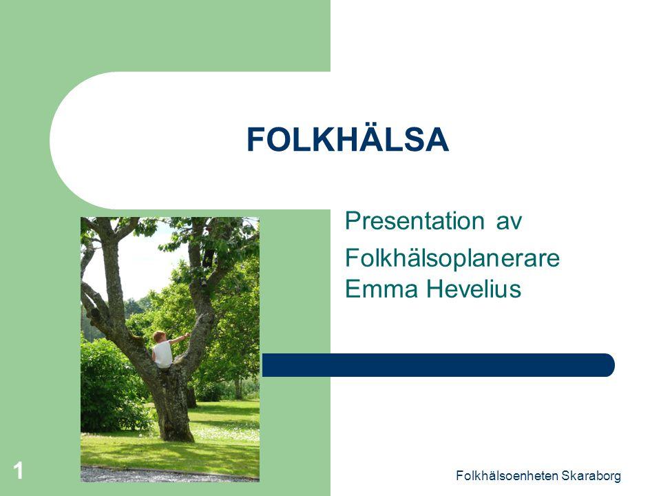Presentation av Folkhälsoplanerare Emma Hevelius