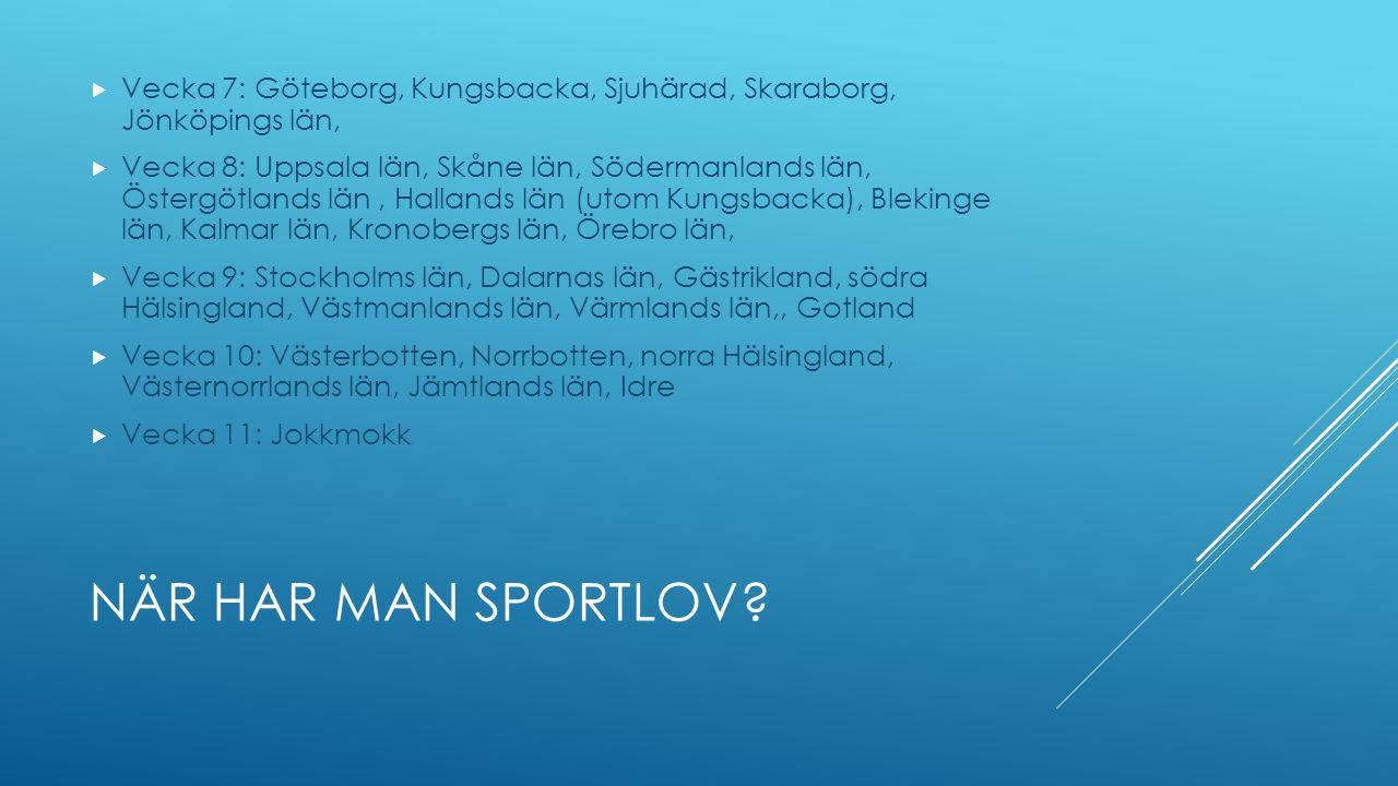 Vecka 7: Göteborg, Kungsbacka, Sjuhärad, Skaraborg, Jönköpings län,