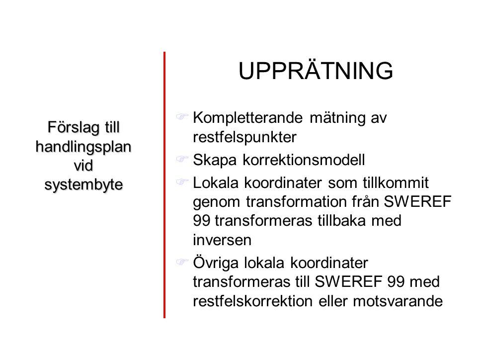 Förslag till handlingsplan vid systembyte
