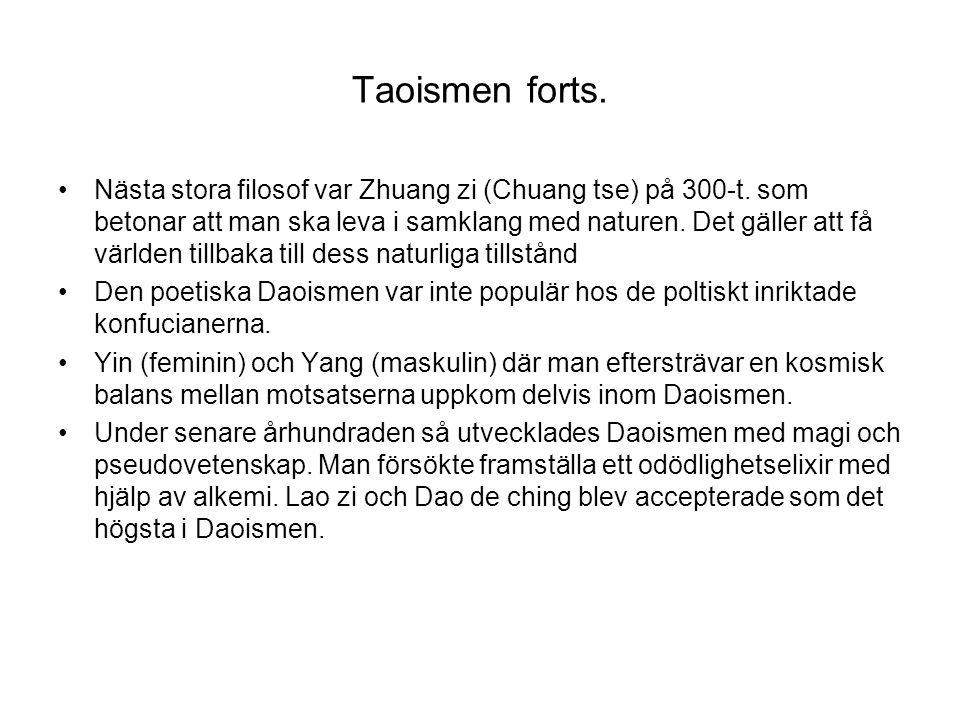 Taoismen forts.