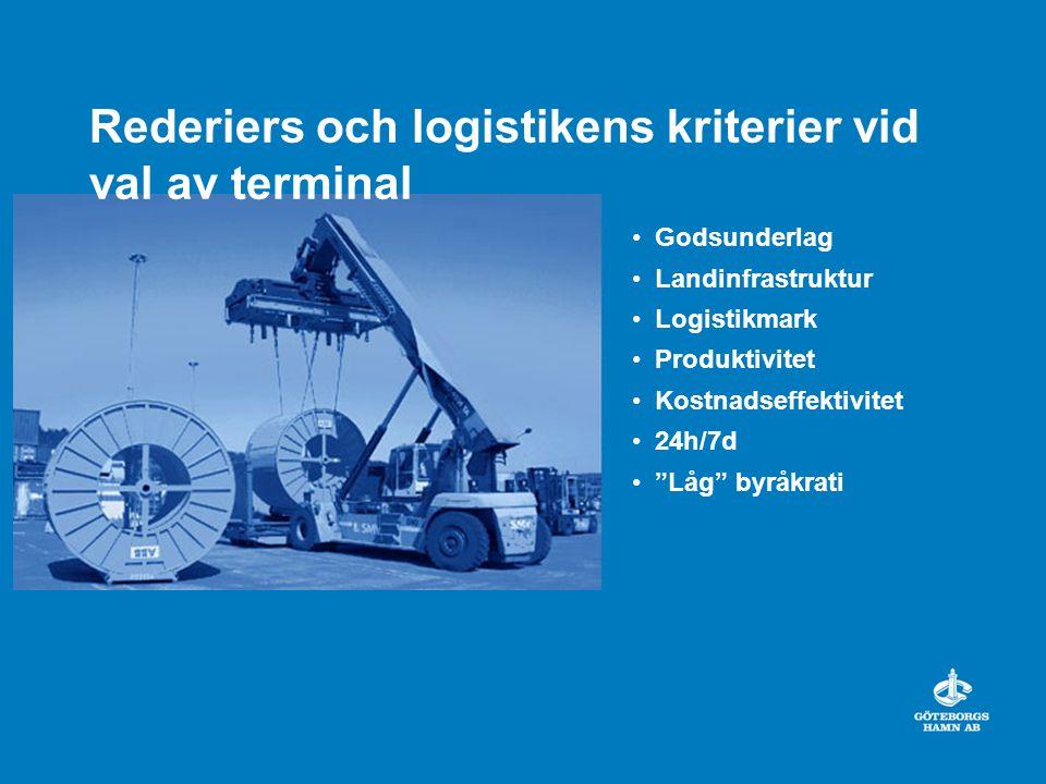 Rederiers och logistikens kriterier vid val av terminal
