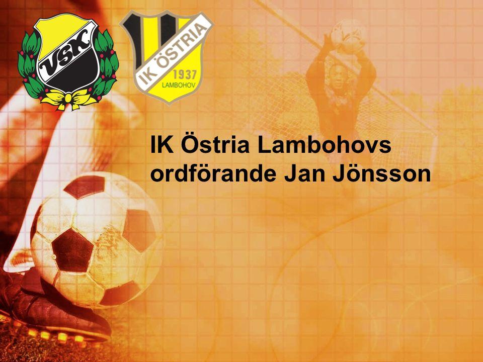 IK Östria Lambohovs ordförande Jan Jönsson