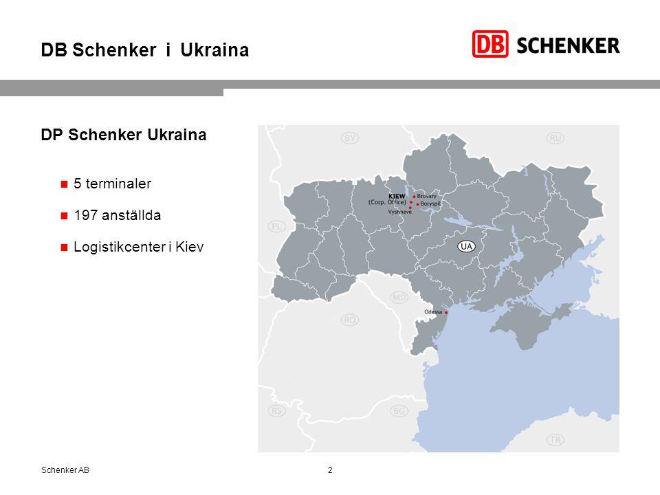DB Schenker i Ukraina DP Schenker Ukraina 5 terminaler 197 anställda