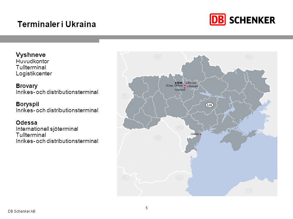 Terminaler i Ukraina Vyshneve Huvudkontor Tullterminal Logistikcenter