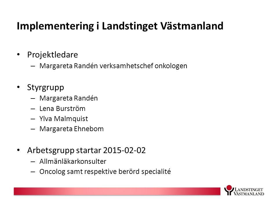 Implementering i Landstinget Västmanland
