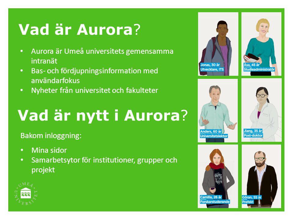 Vad är Aurora Vad är nytt i Aurora