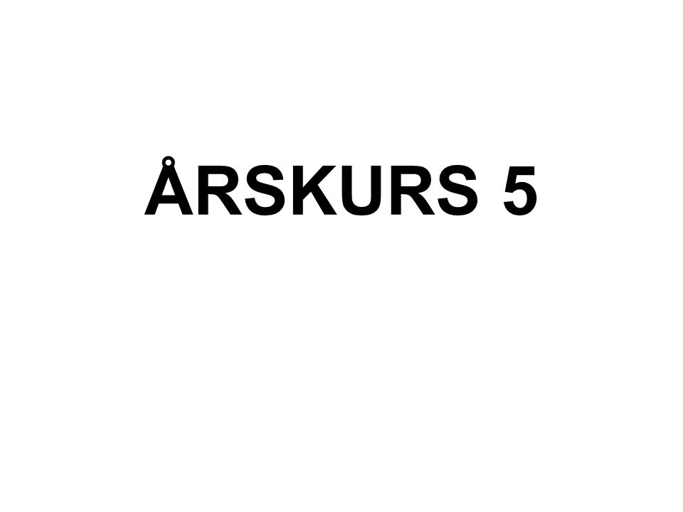 ÅRSKURS 5