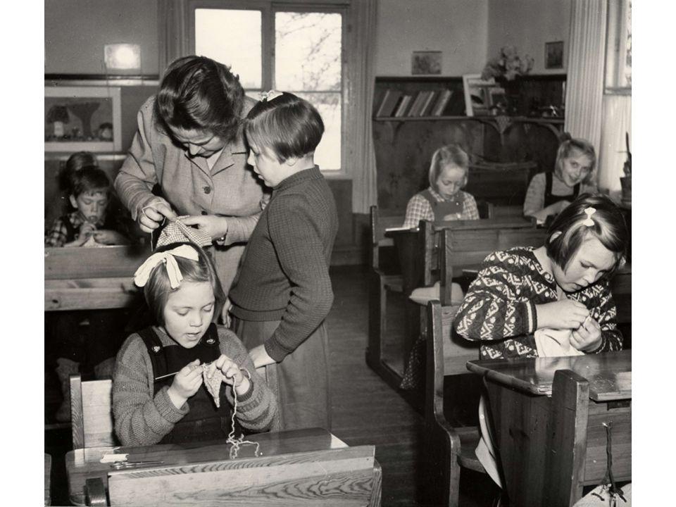 Textilslöjd har funnits i skolan sedan 1882