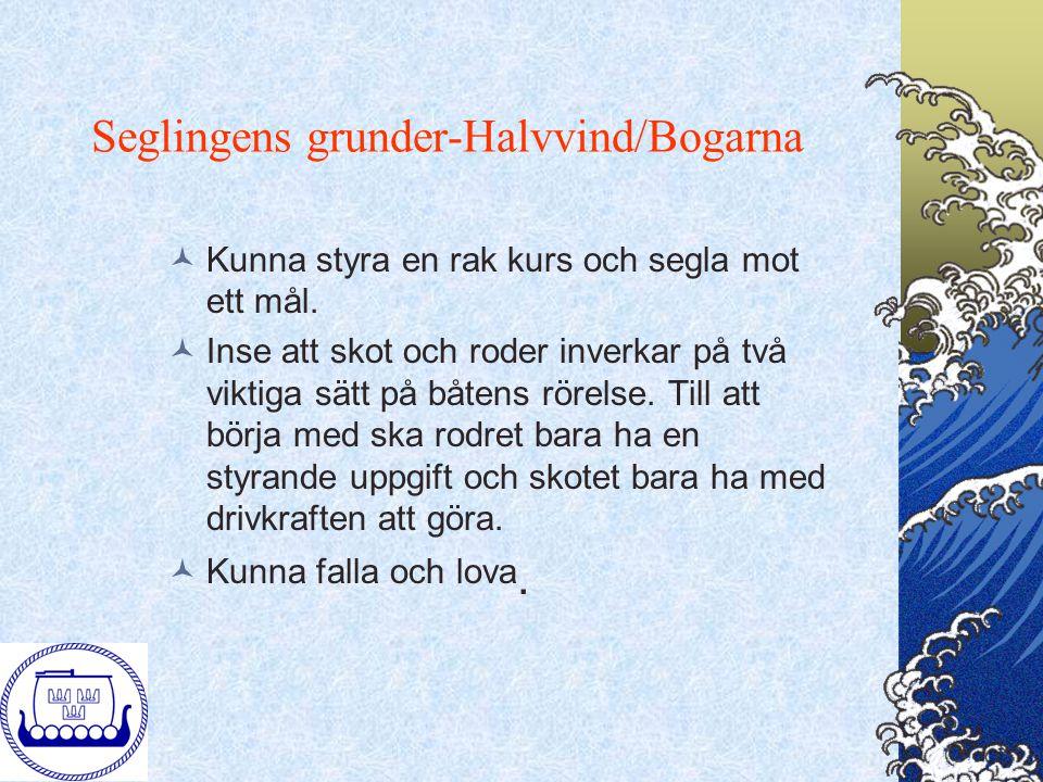 Seglingens grunder-Halvvind/Bogarna