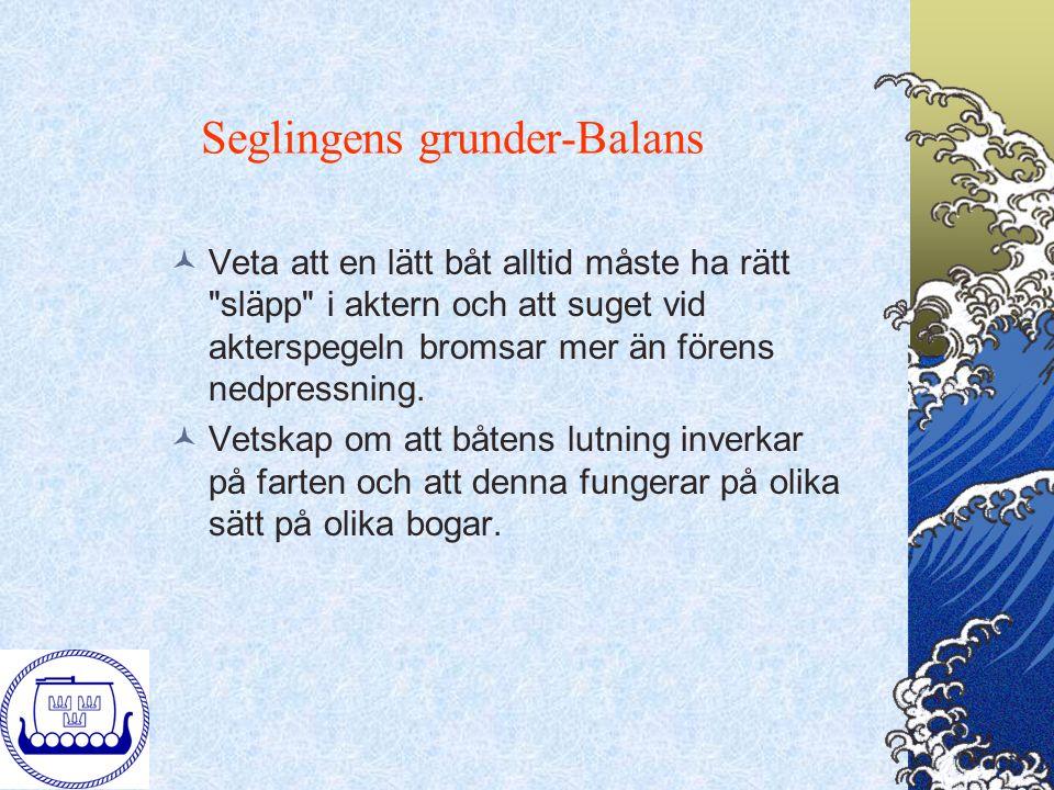 Seglingens grunder-Balans