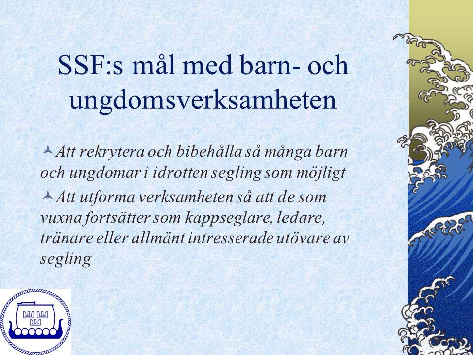 SSF:s mål med barn- och ungdomsverksamheten