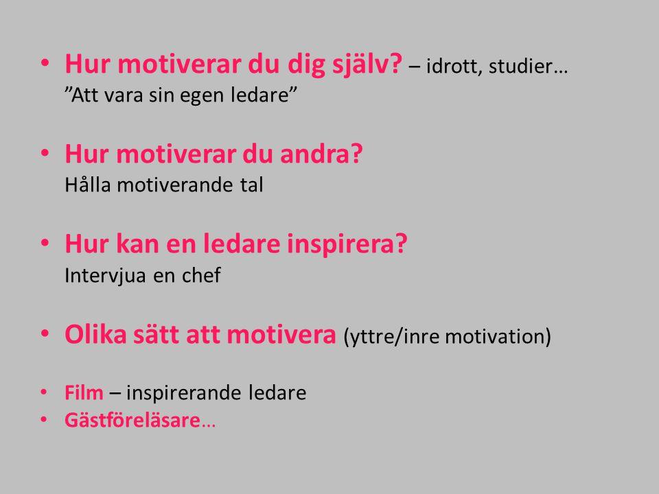 Hur motiverar du dig själv – idrott, studier…