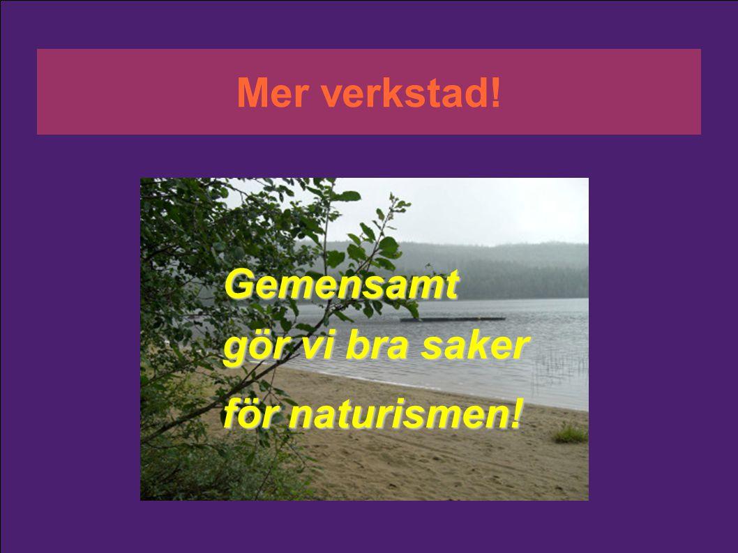 Mer verkstad! Gemensamt gör vi bra saker för naturismen!
