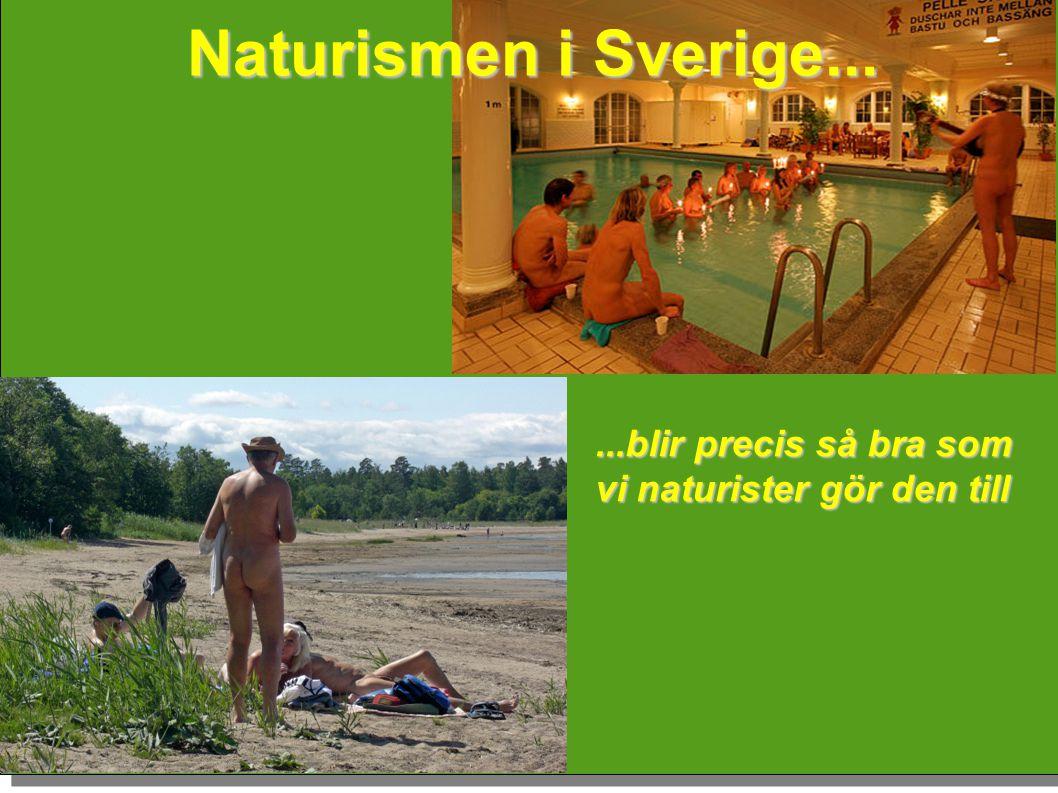 Naturismen i Sverige... ...blir precis så bra som vi naturister gör den till