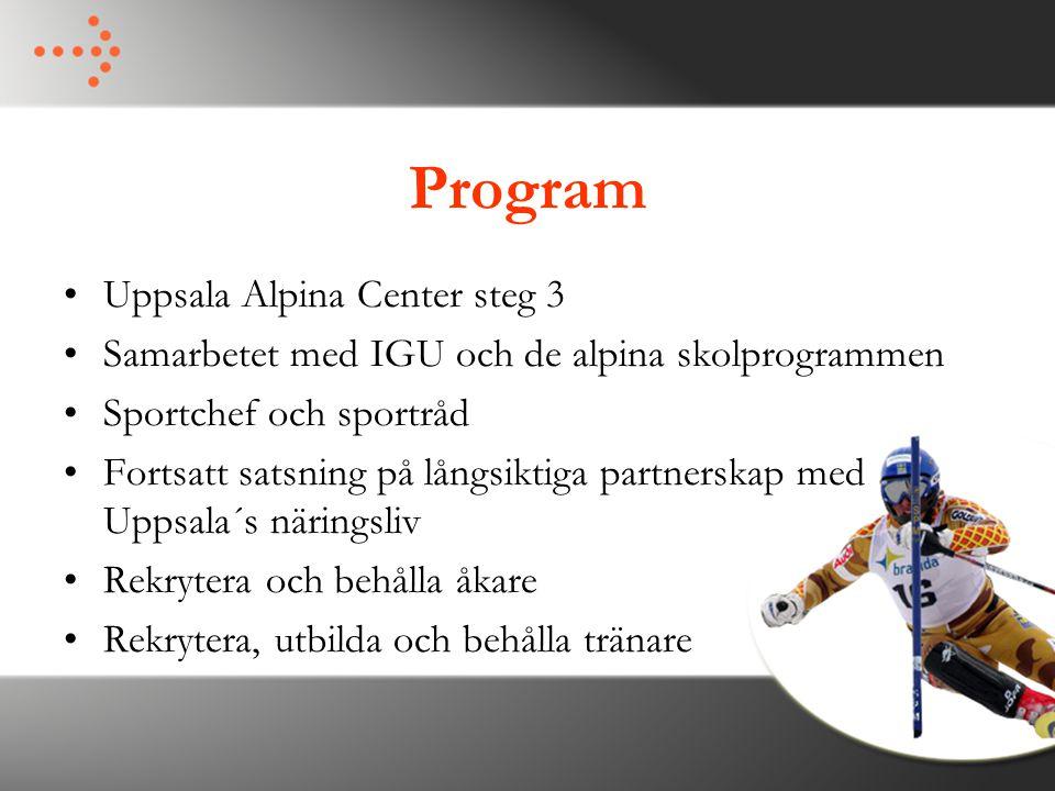 Program Uppsala Alpina Center steg 3